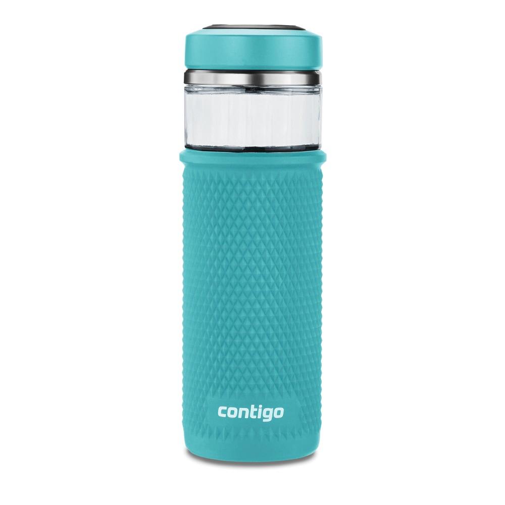 Image of Contigo 20oz Water Bottle with Quick-Twist Lid Juniper, Green