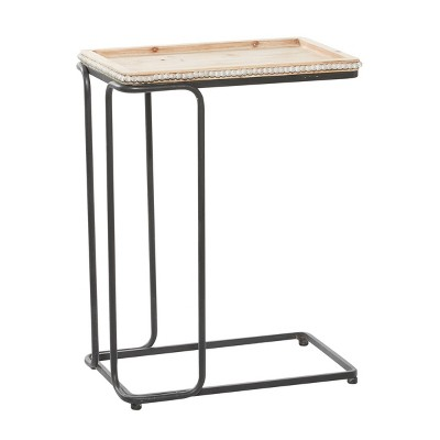 Industrial Ceramic Accent Table White - Olivia & May