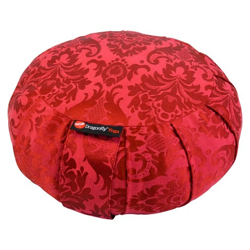 Dragonfly Round Silk Zafu - Red - image 1 of 1
