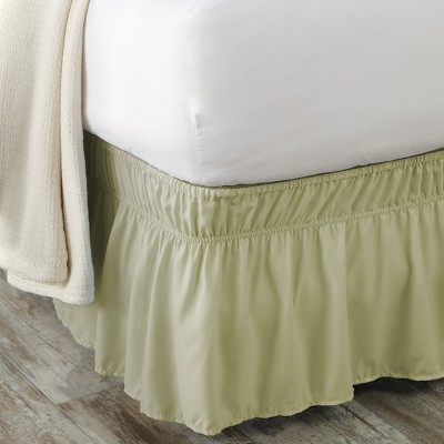 Lakeside Elastic Wrap Around Fitted Microfiber Bed Skirt - Queen/King