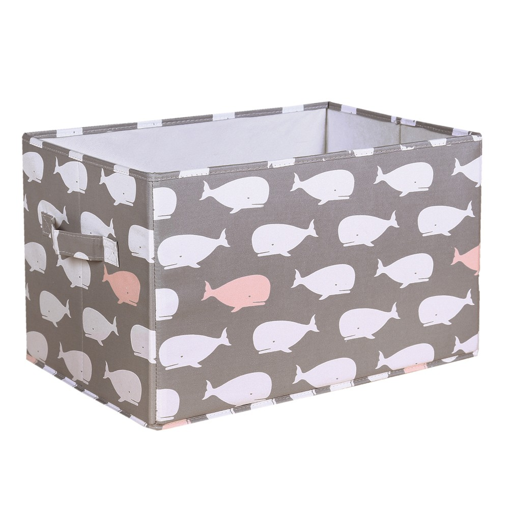 """Image of """"3pc 15""""""""x13"""""""" Whale Collapsible Toy Storage Bin Pink - Lush Décor"""""""