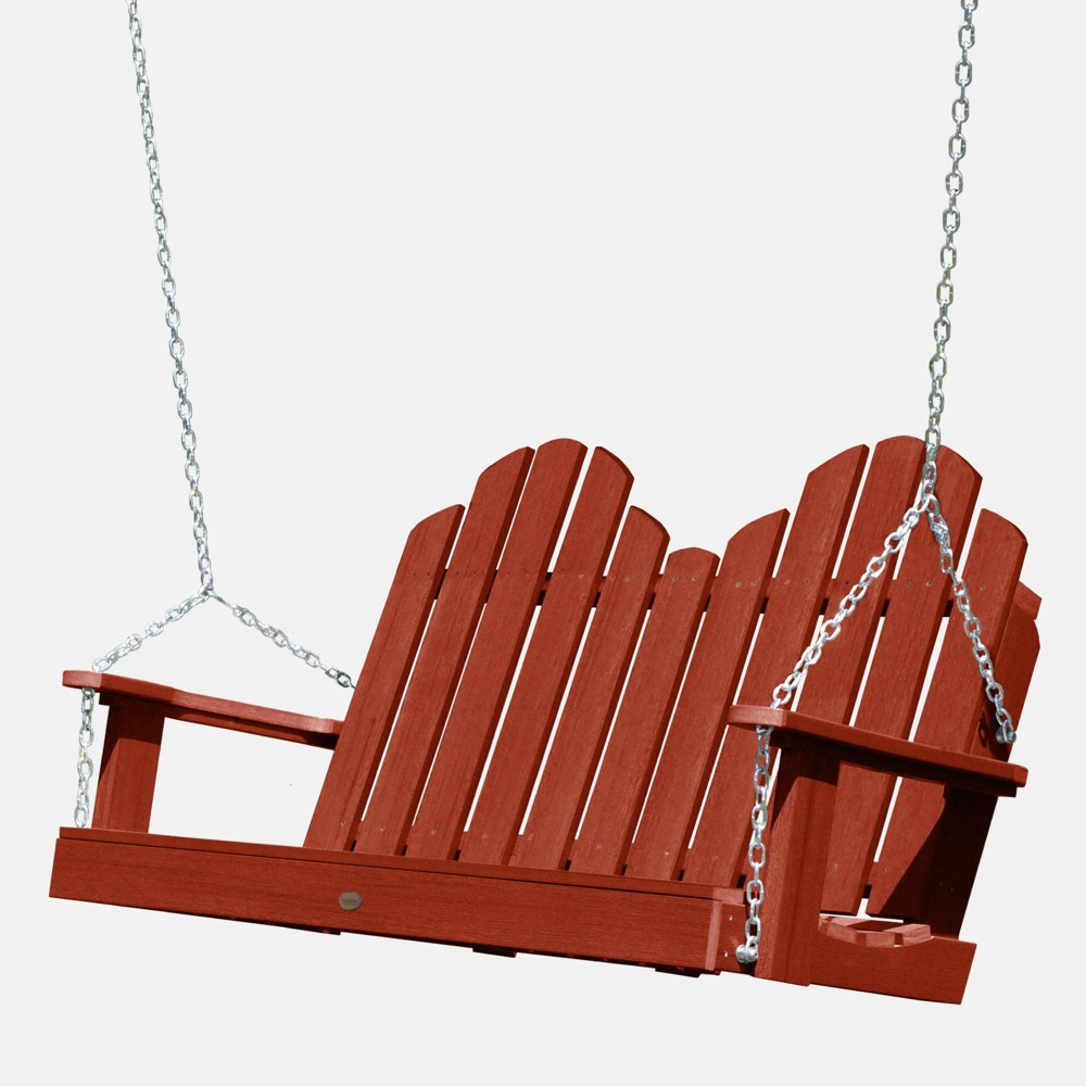 Image of 4' Classic Westport Porch Swing Rustic Red - highwood