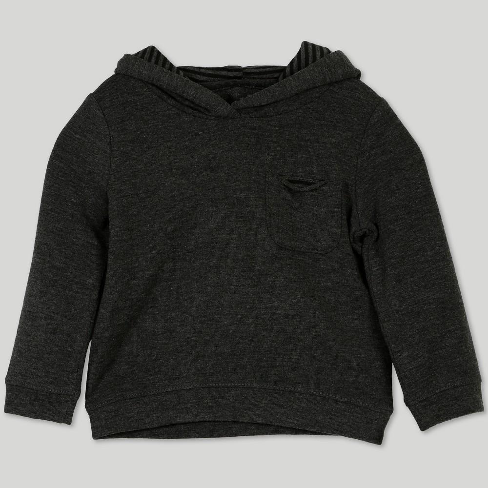 Image of Afton Street Baby Boys' French Terry Hooded Sweatshirt - Gray Newborn, Boy's