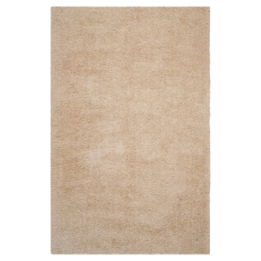 Champagne (Beige) Solid Tufted Area Rug - (5'x7') - Safavieh