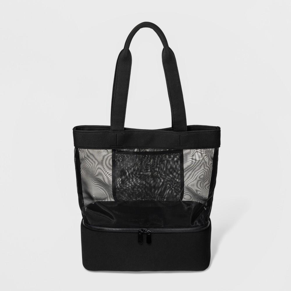 Image of Neoprene Mesh Tote Handbag - Shade & Shore Black