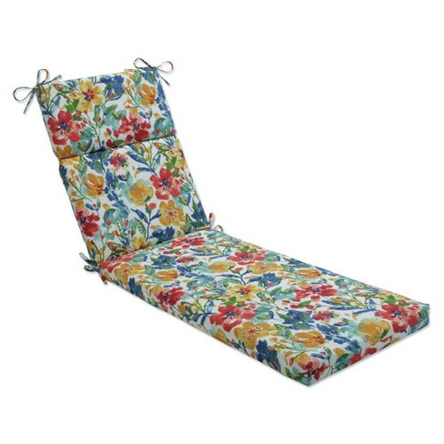 """72.5"""" x 21"""" Outdoor/Indoor Chaise Lounge Cushion Oakmont Multi Blue - Pillow Perfect - image 1 of 1"""