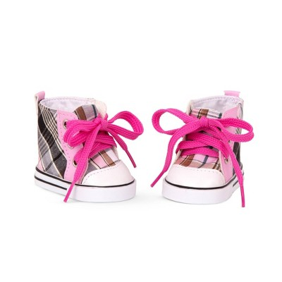 """Our Generation High-Top Shoes for 18"""" Dolls - Plaid All Over"""