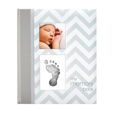 Pearhead Chevron Baby Memory Book - Gray