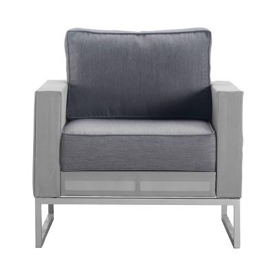 Tropez Mesh Outdoor Arm Chair - French Gray - Adore Decor
