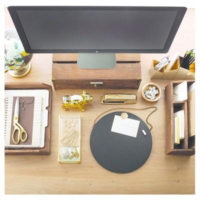 desktop storage unit white wood threshold target rh target com  target desk organizer set