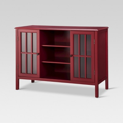 Windham 2 Door Cabinet with Shelves Red - Threshold™