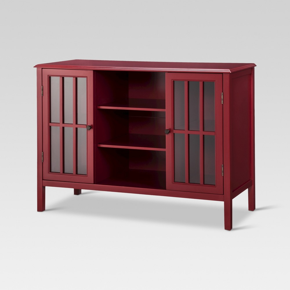 Windham 2 Door Cabinet with Shelves Red - Threshold