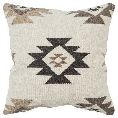 Rizzy Home Southwest Throw Pillow Beige