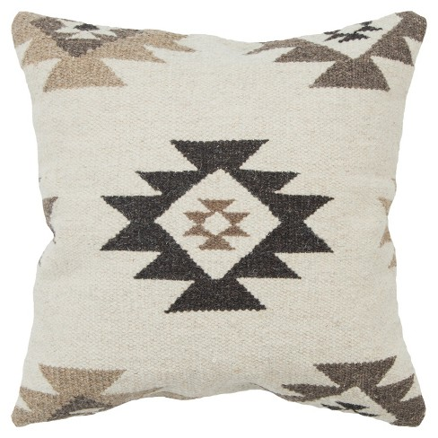 Rizzy Home Southwest Throw Pillow Beige - image 1 of 3