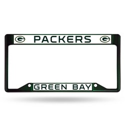 NFL Green Bay Packers Colored Chrome License Plate Frame