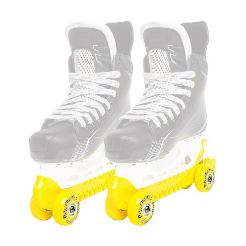 Rollergard 44374-Y Adjustable Strap Kids Ice Skate Blade Guard & Roller Skate, Yellow (Pair) - image 1 of 3