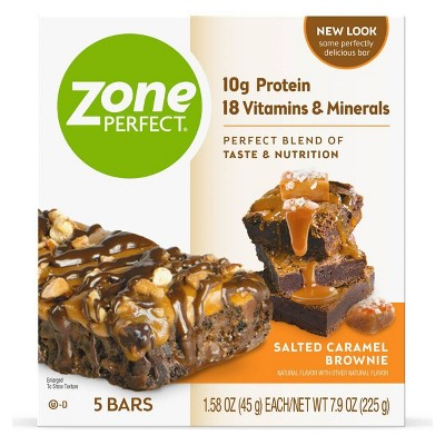 ZonePerfect Protein Bar Salted Caramel Brownie - 5 ct/7.9oz