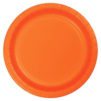 "Sunkissed Orange 10"" Banquet Plates - 24ct"