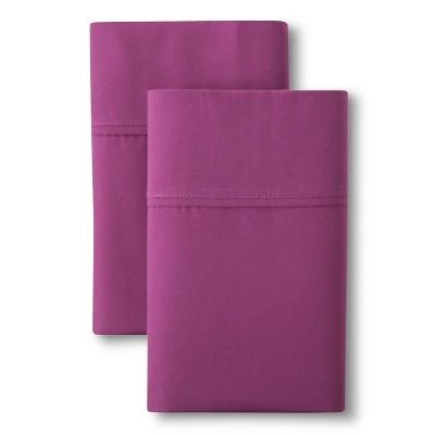 Organic Cotton Pillowcase Set (Standard)Plum 300 Thread Count - Threshold™