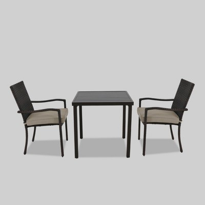 Halsted 3pc Patio Bistro Set Tan - Threshold™