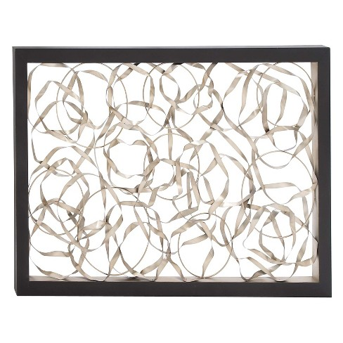 Metal Curls Decorative Wall Art 40X 60 - Olivia & May - image 1 of 3
