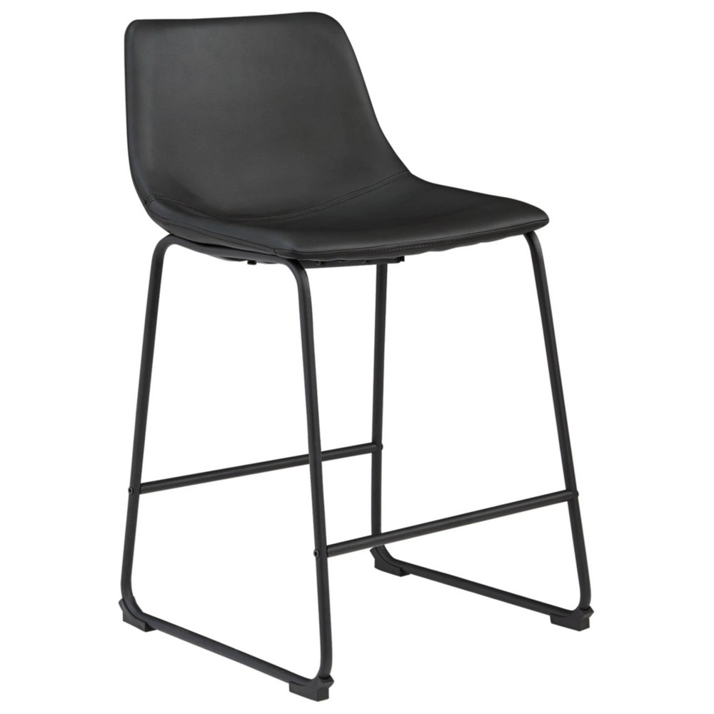 Centiar Counter Height Barstool Black Signature Design By Ashley