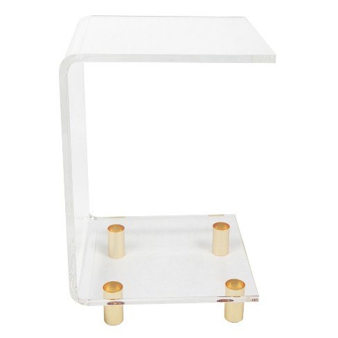 Hamilton Home Acrlylic C Shape Accent Table - Clear - image 1 of 2