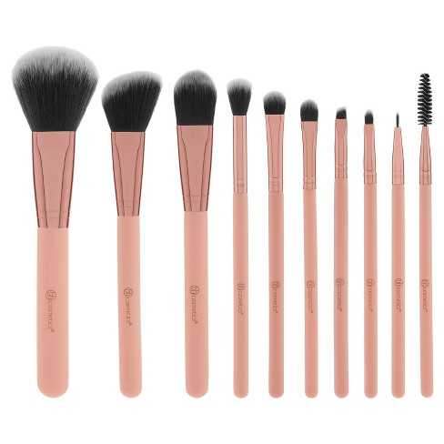 BH Cosmetics Brush Set with Cosmetic Bag - Pretty in Pink - 10pc - image 1 of 13