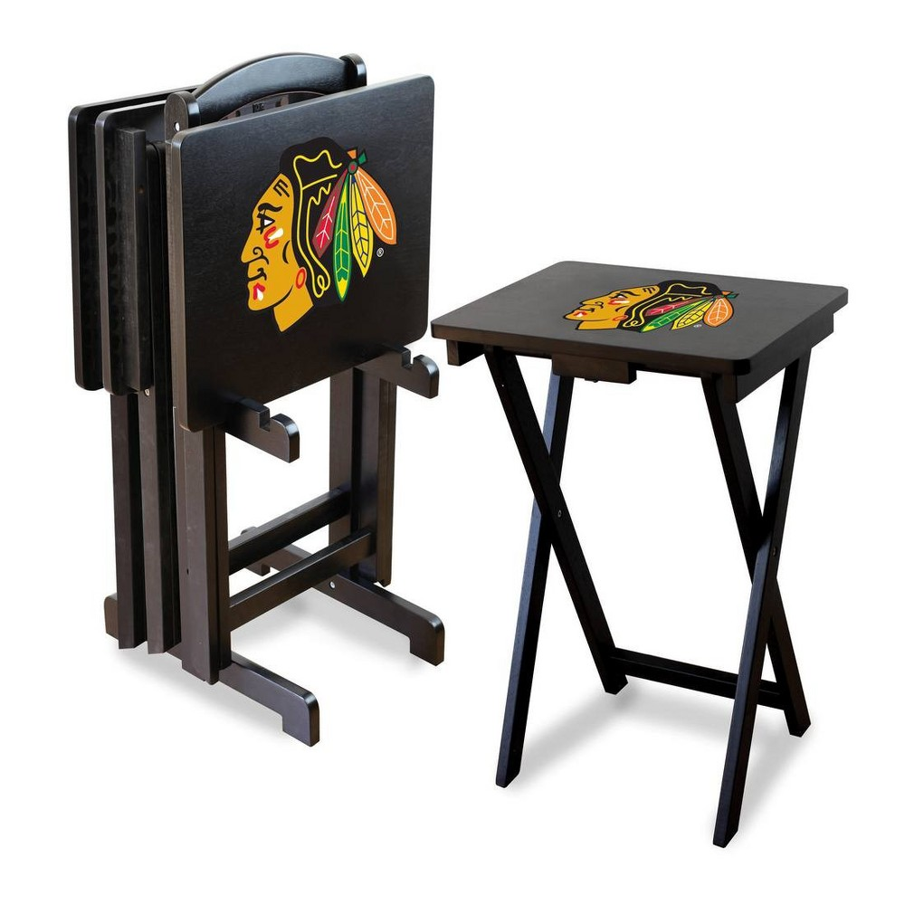 NHL Chicago Blackhawks TV Trays with Stand