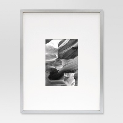 Metal Frame - Brushed Silver - 11x14 Matted for 5x7 Photo - Room Essentials™