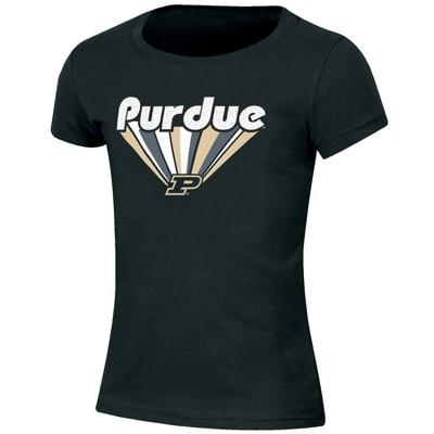 NCAA Purdue Boilermakers Girls' Short Sleeve Scoop Neck T-Shirt