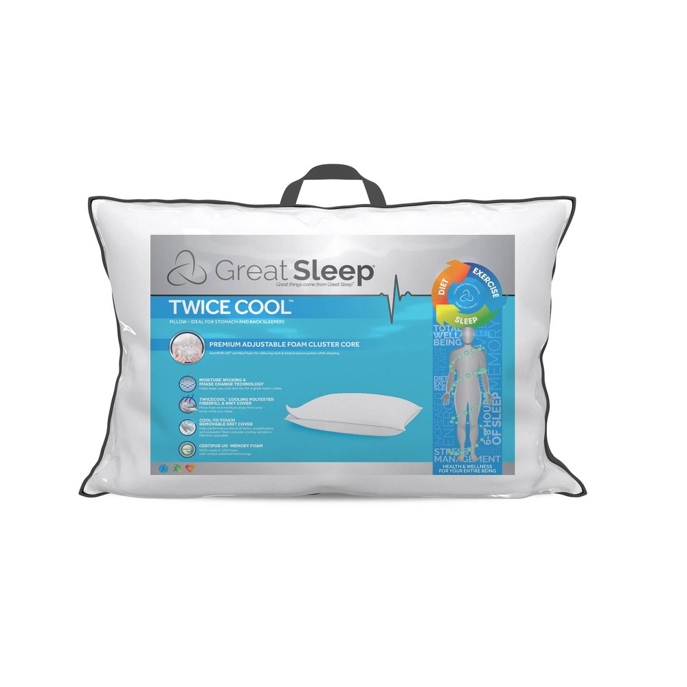 Jumbo Twice Cool Cluster Bed Pillow Great Sleep