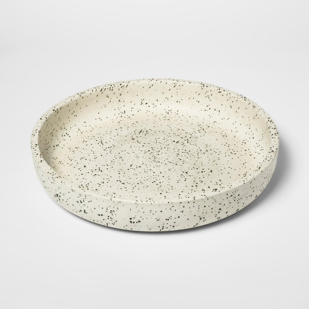 Decorative Tray Speckled - White - Threshold