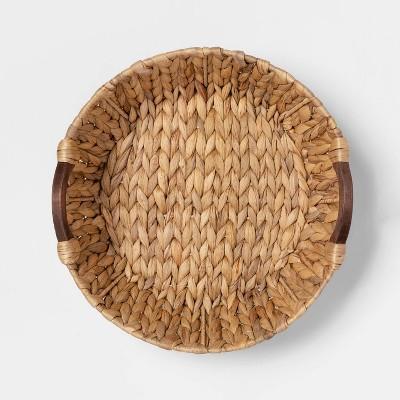 Cravings by Chrissy Teigen Water Hyacinth Basket with Wood Handles