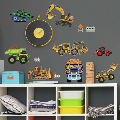 New Speed Limit Construction Vehicles Peel and Stick Wall Decal - RoomMates - image 1 of 4