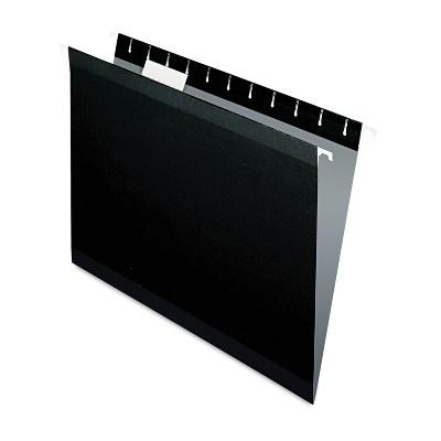 Pendaflex Reinforced Hanging Folders 1/5 Tab Letter Black 25/Box 415215BLA