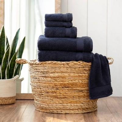 6pc Noah Bath Towel Set Navy - Martha Stewart
