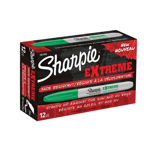 Sharpie Extreme Permanent Marker, Fine Tip, Green, pk of 12 - image 1 of 1