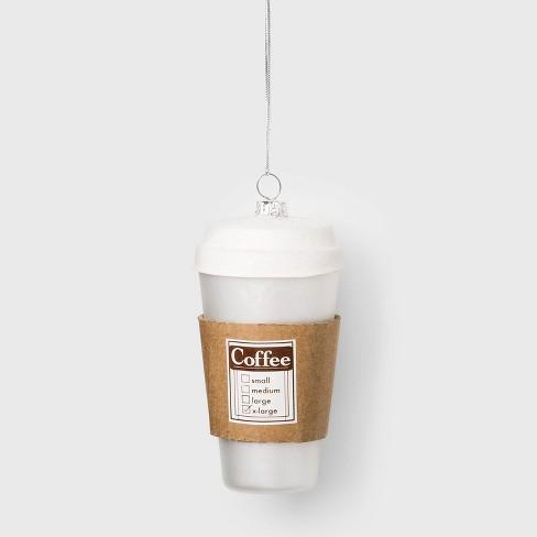 Coffee Cup Glass Christmas Ornament - Wondershop™ - image 1 of 2