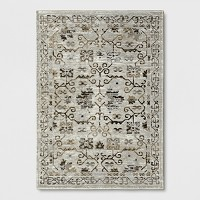 Neutral Tapestry 5-Feet x 7-Feet Woven Area Rug (Threshold)