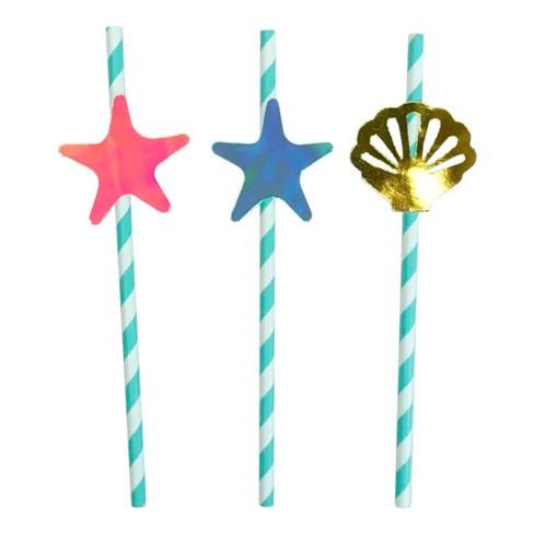 20ct Mermaid Paper Straws - Spritz™ - image 1 of 2