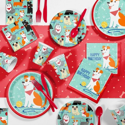 Dog Print Birthday Party Kit