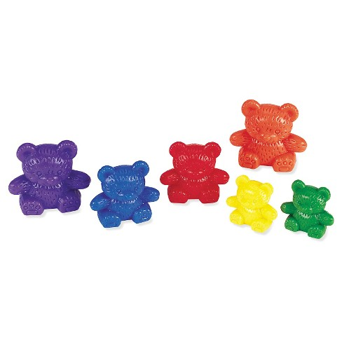 Learning Resources Three Bear Family Rainbow Counters, Set of 96 - image 1 of 2