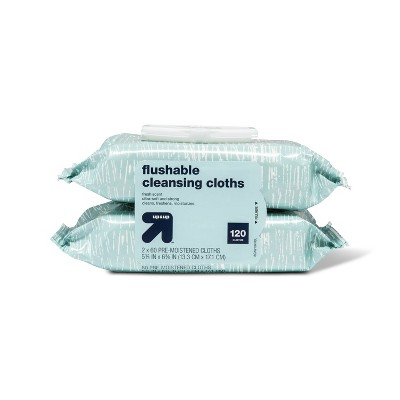 Flushable Wipes: up & up Flushable Cleansing Cloths