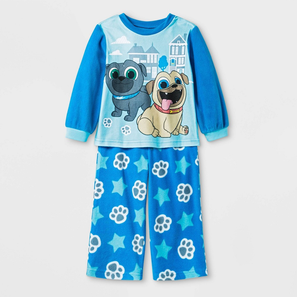Image of Toddler Boys' Puppy Dog Pals Pajama Set - Blue 3T, Boy's