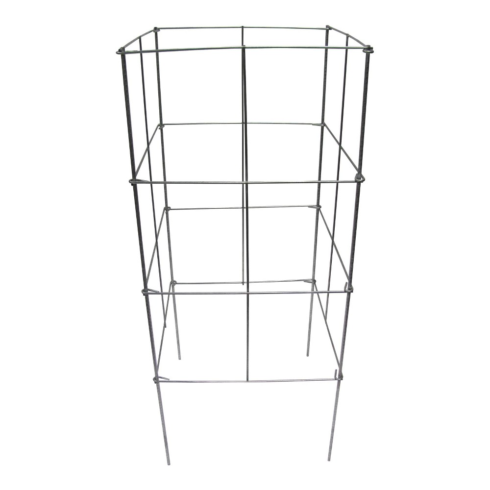 "Image of ""16"""" x 42"""" Heavy Duty Stackable Square Plant Support 10 Pack - Galvanized - Glamos Wire"""