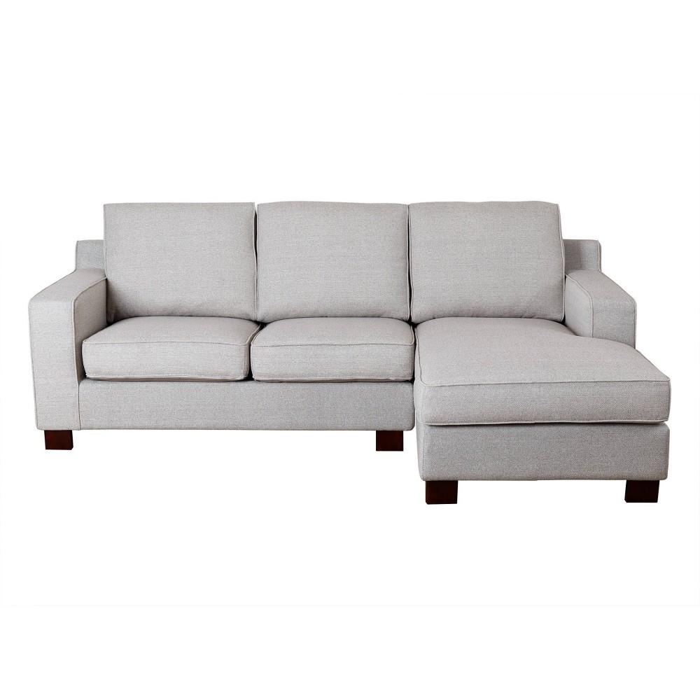 Wilton Fabric Sectional Gray - Abbyson Living