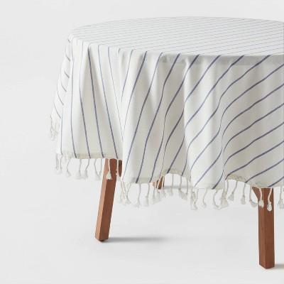 Cotton Woven Tablecloth Blue/White - Opalhouse™