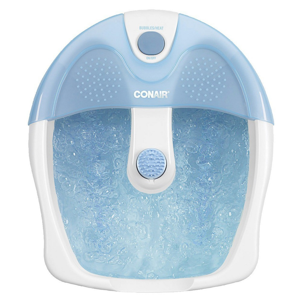 Conair Footbath with Bubbles & Heat spa treat your self blue foot massage
