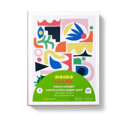 "9""x12"" Heavyweight Construction Paper Pad - Mondo Llama™"